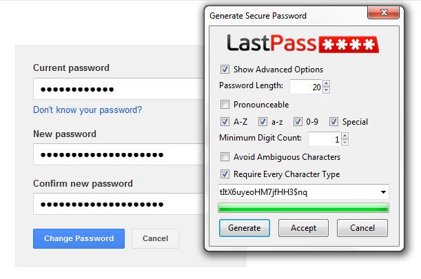 Generate secure password